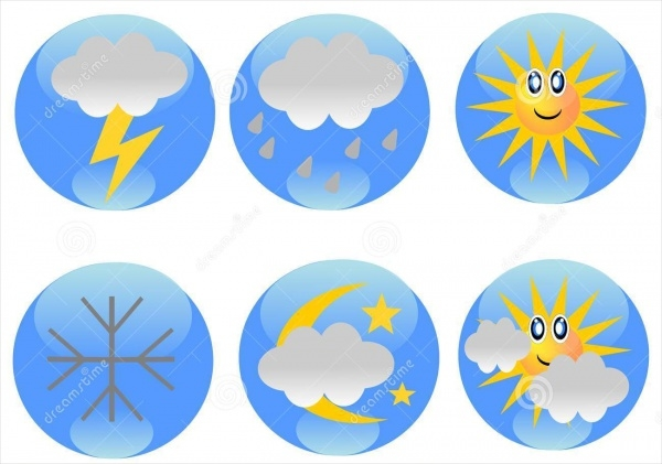 Simple Weather Map Icons