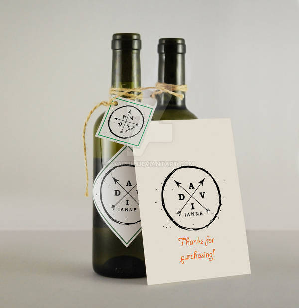 Simple Wine Bottle Labels