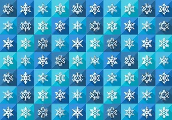 Simple Winter Snowflake Pattern