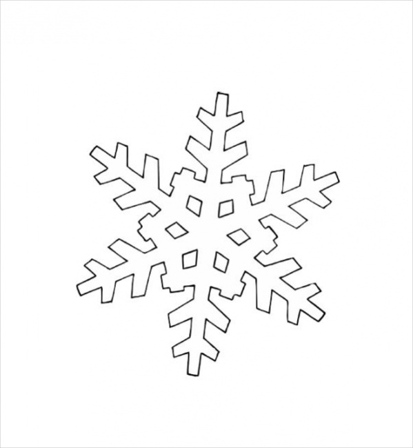 Snow Flake Coloring Pages