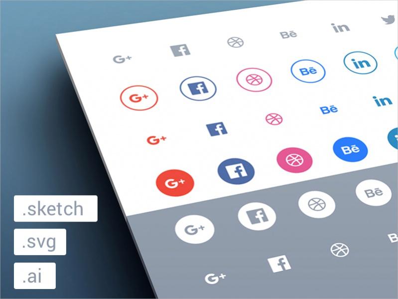 Social Media Outline Icons