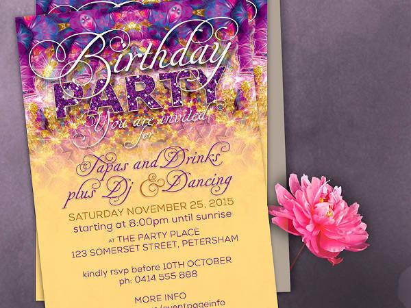 Sparkling Birthday Party Invitation