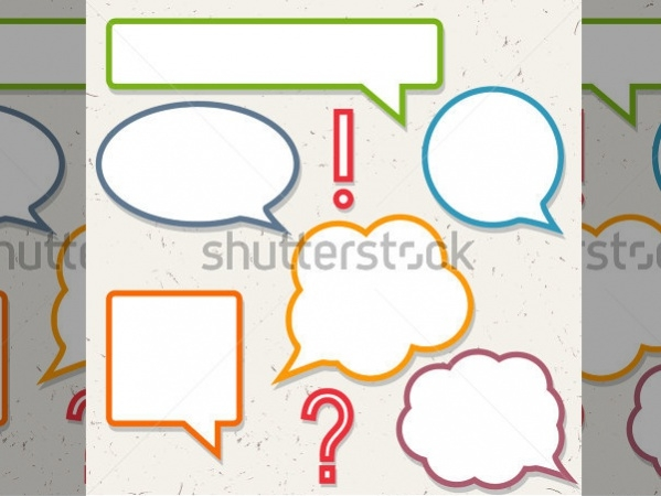 Speech Bubble Custom Shapes