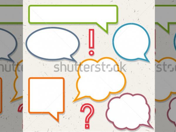 Speech Bubble Custom Shapes