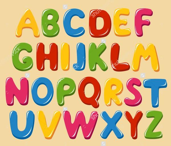 Stuuning Vector Alphabet Letters