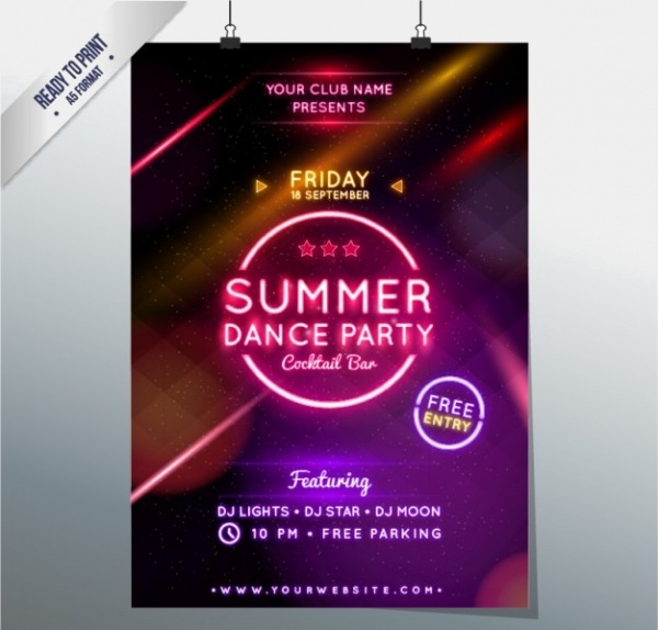 summer dance party poster