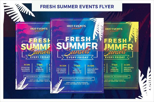 Summer Event Planner FlyerSummer Event Planner Flyer