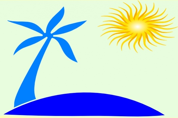 Sun Beach Clipart