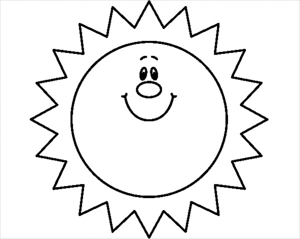 Sun Black And White Clipart