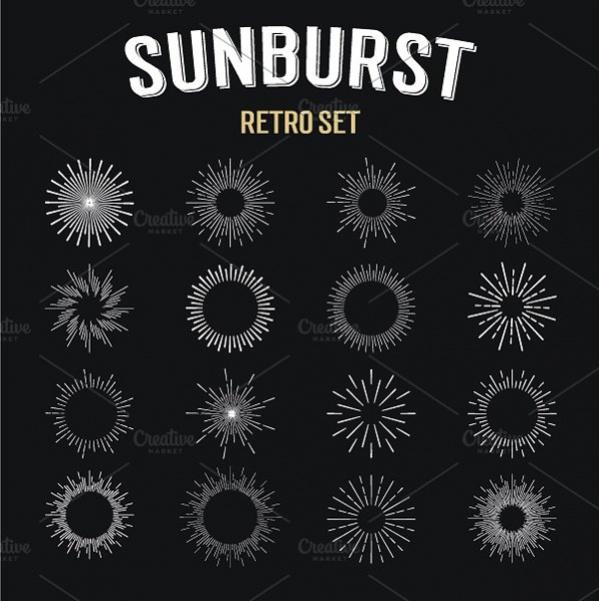 Sun Burst Shapes for Logo