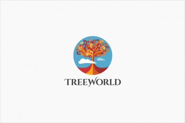 Sureal Tree Landscape Logo