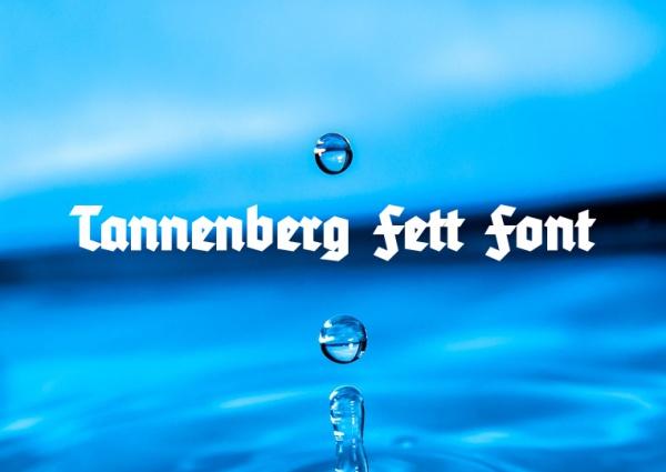 Tannenberg Fett Calligraphy Font