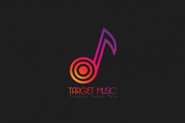 Target Music Logo design