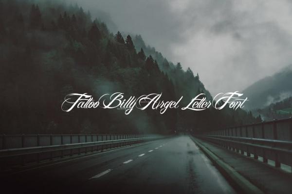 Tattoo Billy Argel Letter Font