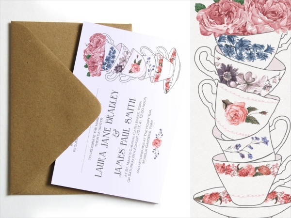Tea Party Wedding Invitation