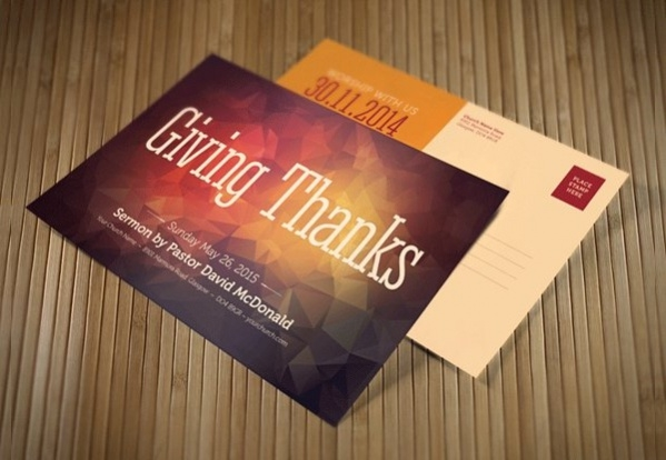 Thankgiving Church Postcard