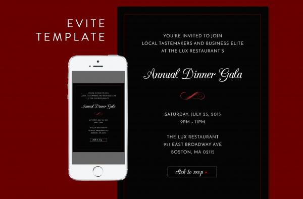 Formal Dinner PSD Ivite