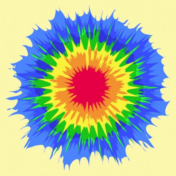 Tie Dye Clipart pattern