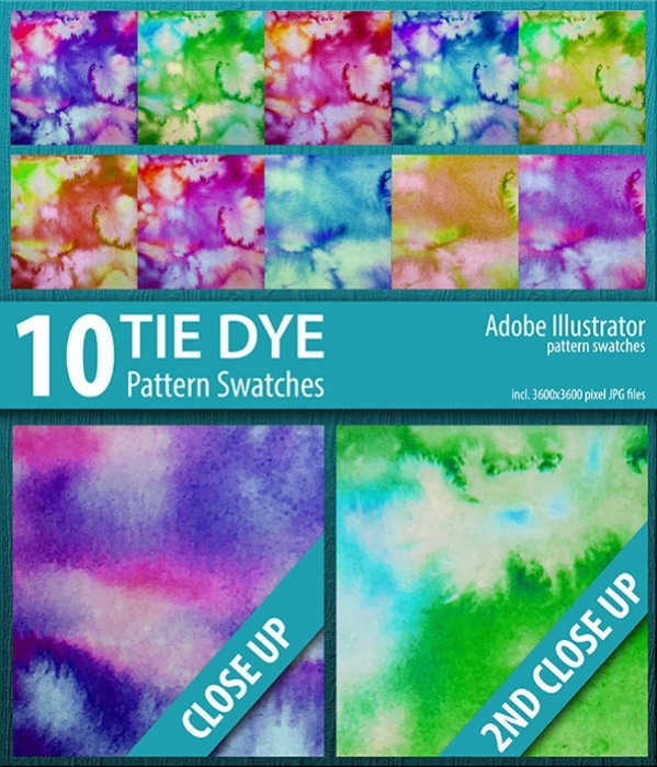 Tie Dye Swatches Pattern