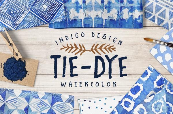 Tie Dye Watercolor Pattern