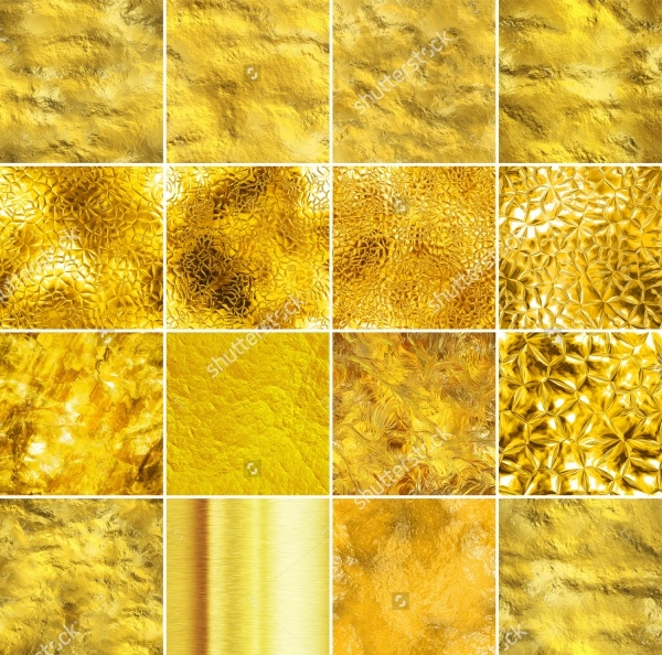 Tileable Gold Textures Collection