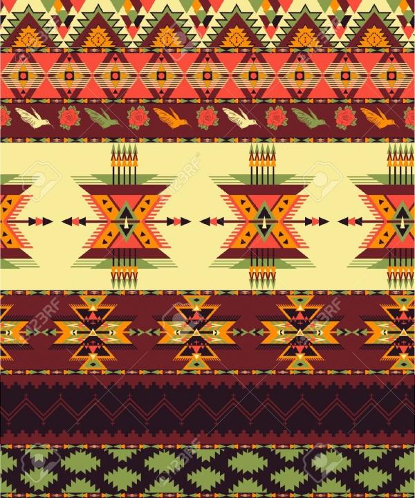 Transparent Aztec Pattern
