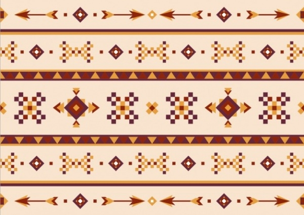 Tribal Ethnic Pattern Free Vector