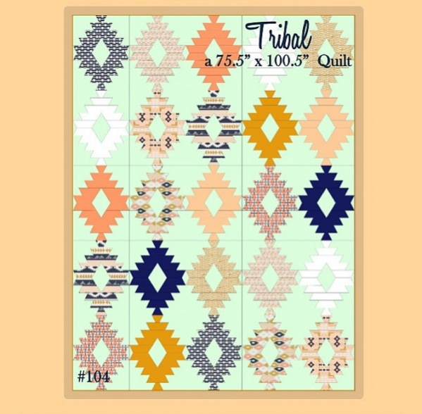 Tribal Geometric Bold Quilt Pattern