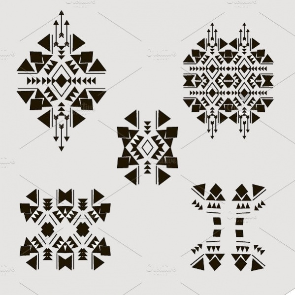 Tribal Isolated Elements Design