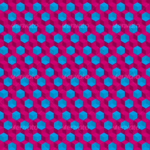 Trippy Hd Cubes Pattern