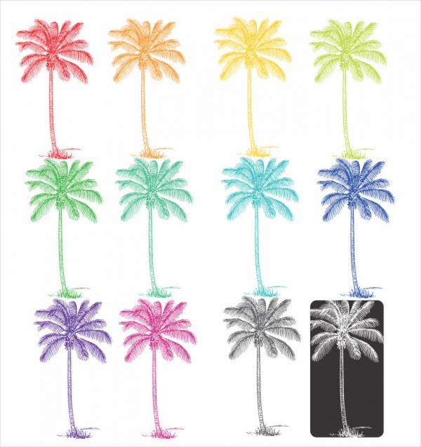 tropical palm tree clipart