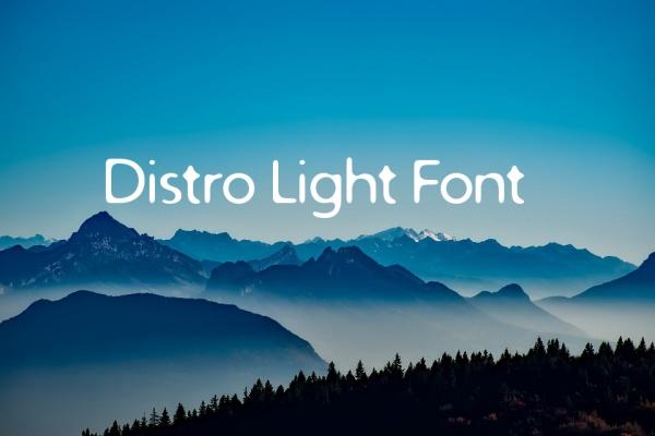 Typography Distro Light Font