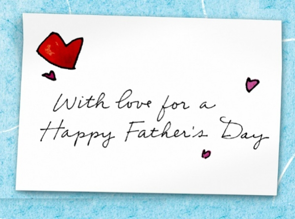 Typography Fathers Day card
