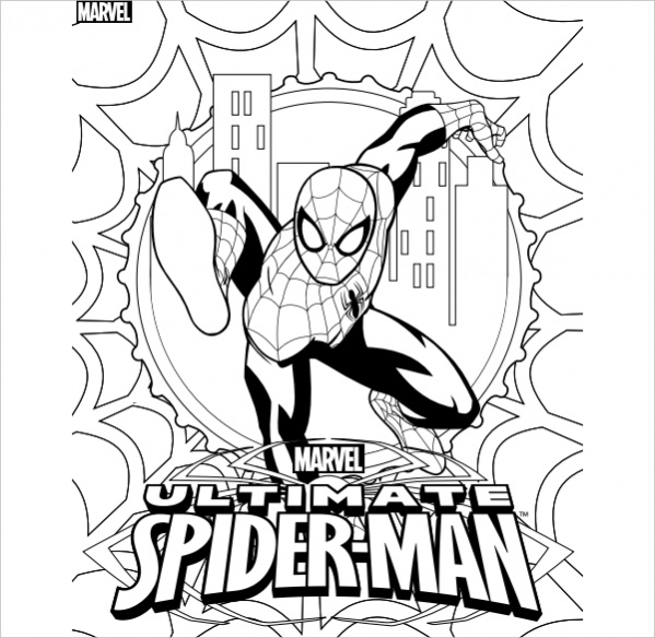 20  spiderman coloring pages