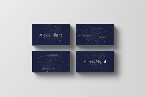 Unique Astronomer Business Card