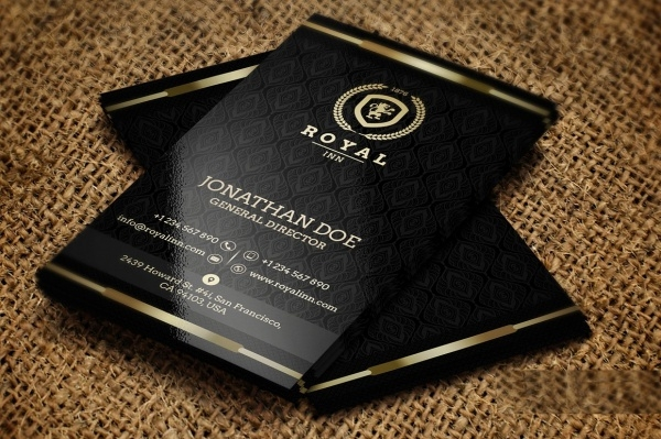 Unique Gold & Black Business Card
