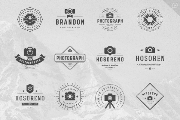 Unique Vintage Photography Logo