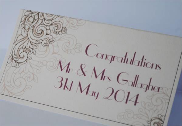 Unique Wedding Place Card