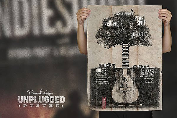 Unplugged band Concert Poster