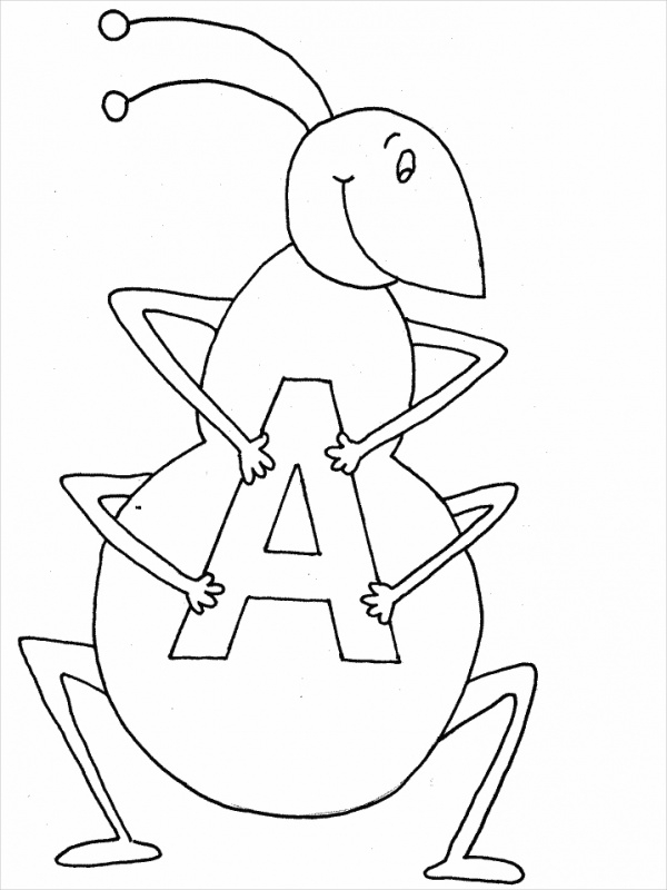 Upper Case Letter A Coloring Page