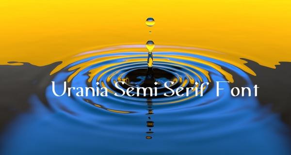 Urania Semi Serif Font