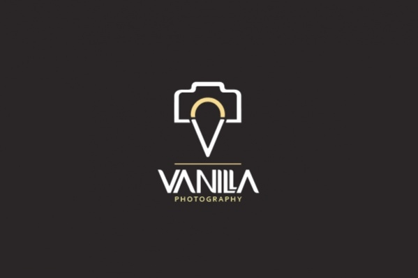 Vanilla Photography Name Logo