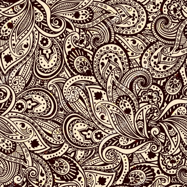 Vector Abstract Paisley Pattern