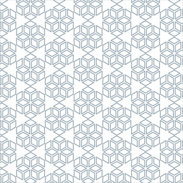 Vector Abstract Snowflake Pattern