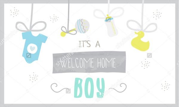 Vector Baby Shower Banner