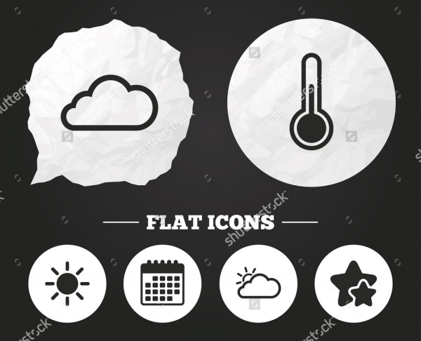 Vector Bubble Weather Icons