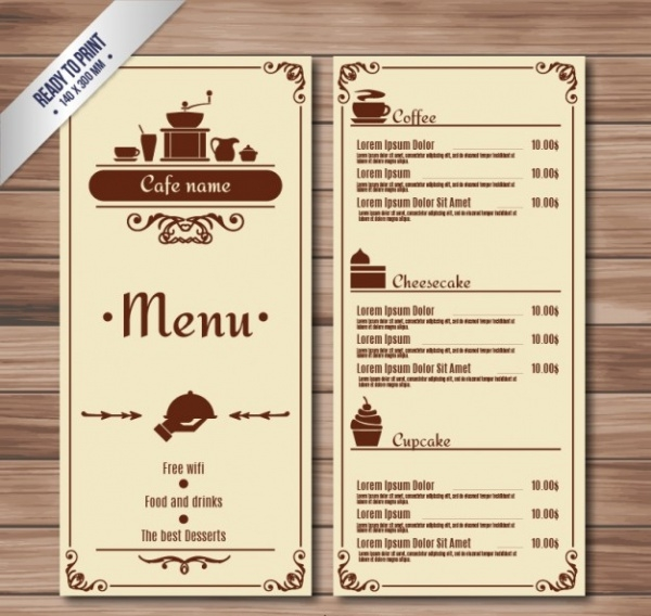 Vector Cafe Menua