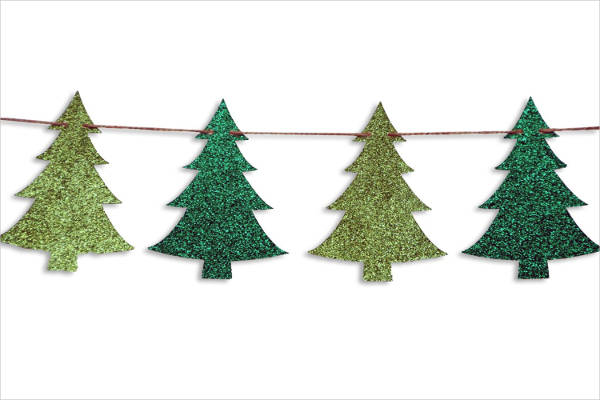 Vector Christmas Tree Banner