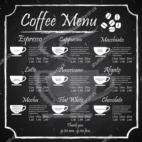 Vector Coffee Menu Design