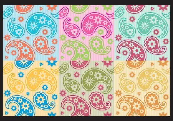 Vector Colorful Paisley Pattern